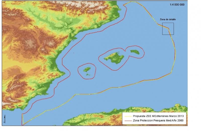 Aguas Territoriales Españolas Mapa.Espana Crea Una Zona Economica Exclusiva En El Mediterraneo