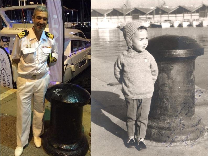 Jordi Bonet, en el mismo lugar, con 50 años de distancia